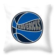 Dallas Mavericks Retro Shirt Throw Pillow