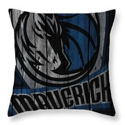 Dallas Mavericks Wood Fence Throw Pillow