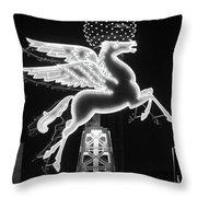 Dallas Pegasus Bw 121517 Throw Pillow