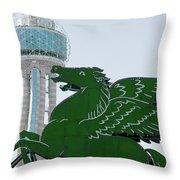 Dallas Pegasus Reunion Tower Green 030518 Throw Pillow
