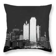 Dallas Skyline Bw 113017 Throw Pillow