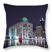Dallas Skyline From City Hall Throw Pillow