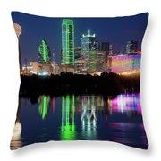 Dallas Skyline Reflection 91317 Throw Pillow