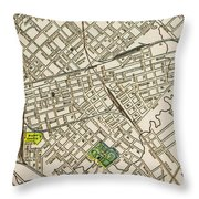 Dallas Texas Map 1899 Throw Pillow