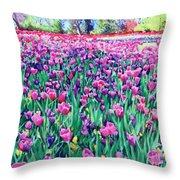 Dallas Tulips Throw Pillow