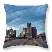 Dallas View At Dusk Throw Pillow