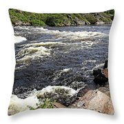Dalles Rapids French River I Throw Pillow