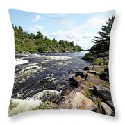 Dalles Rapids French River Iv Throw Pillow
