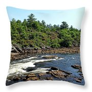 Dalles Rapids French River Ontario Throw Pillow