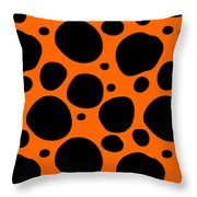 Dalmatian  Black Pattern 03-p0173 Throw Pillow