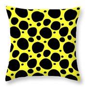 Dalmatian  Black Pattern 05-p0173 Throw Pillow