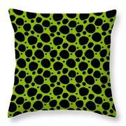 Dalmatian  Black Pattern 09-p0173 Throw Pillow