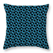 Dalmatian  Black Pattern 18-p0173 Throw Pillow