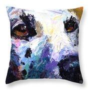 Dalmatian Dog Painting Throw Pillow