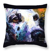 Dalmatian Dog Painting Throw Pillow