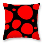 Dalmatian Pattern With A Black Background 02-p0173 Throw Pillow