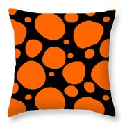 Dalmatian Pattern With A Black Background 03-p0173 Throw Pillow