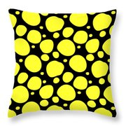 Dalmatian Pattern With A Black Background 05-p0173 Throw Pillow