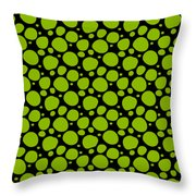 Dalmatian Pattern With A Black Background 09-p0173 Throw Pillow