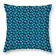 Dalmatian Pattern With A Black Background 18-p0173 Throw Pillow