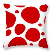Dalmatian Pattern With A White Background 02-p0173 Throw Pillow