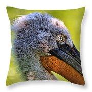 Dalmatian Pelican Throw Pillow