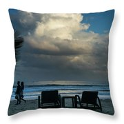 Daluyan Resort On Sabang Beach Throw Pillow