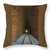 Dalveen Railway Tunnel 1880 Throw Pillow