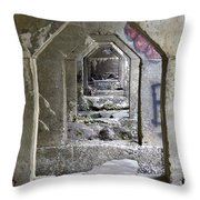 Dam Above Garwin Falls, Wilton, Nh Throw Pillow