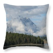 Dam Clouds Throw Pillow