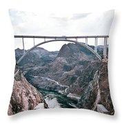 Dam Crossing #2 Throw Pillow