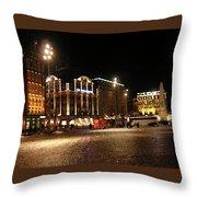 Dam Square Late Night - Amsterdam Throw Pillow