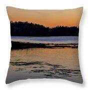 Damariscotta Twilight Throw Pillow