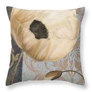 Damask Poppy Throw Pillow