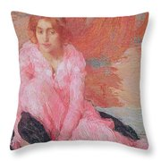 Dame En Rose Throw Pillow