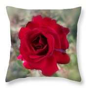 Dame En Rouge Throw Pillow