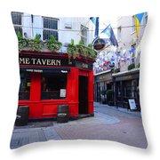 Dame Tavern Throw Pillow
