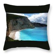 Damian Trevor  - Greece Nature Beach Landscape  Throw Pillow