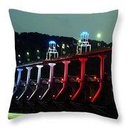 Damm River Bridge Throw Pillow