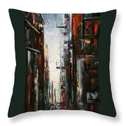 Damp And Cold Throw Pillow