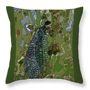 Damsel Fly Throw Pillow