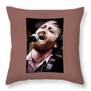 Dan Auerbach And The Fast Five Performs At The Mean Eyed Cat Dur Throw Pillow