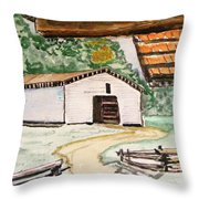 Dan Lawson Barn Throw Pillow