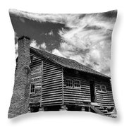 Dan Lawson Place With Brick Chimney Throw Pillow