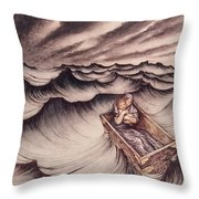 Danae And Her Son Perseus Put In A Chest And Cast Into The Sea Throw Pillow