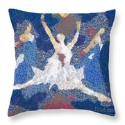 Dance Abstract In The Mix Throw Pillow