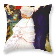 Dance At Bougival 1883 Throw Pillow