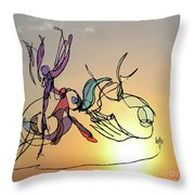Dance At Sunrise Throw Pillow