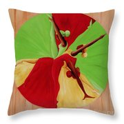 Dance Circle Throw Pillow by Ikahl Beckford