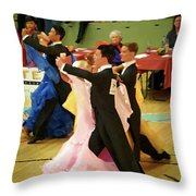Dance Contest Nr 18 Throw Pillow